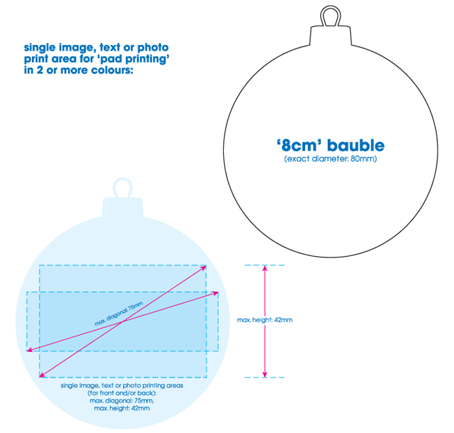 8cm bauble specification (for pad printing)