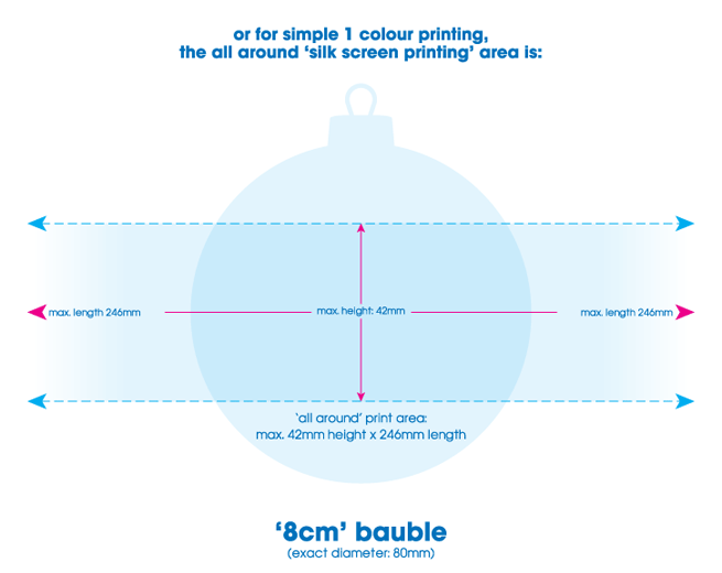 8cm bauble specification (for silk screen printing)