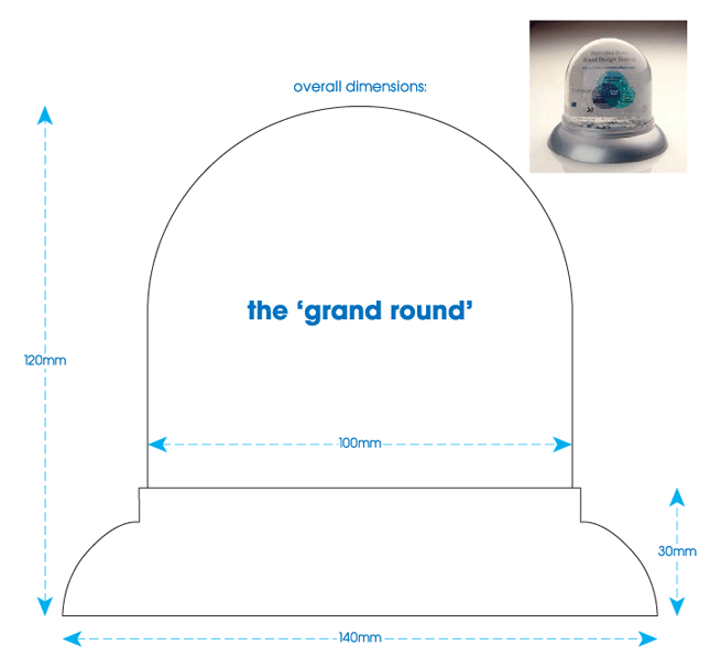 'grand round' snowglobe technical specification